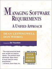 Cover of: Managing Software Requirements