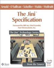Cover of: The Jini(TM) Specification (The Jini(TM) Technology Series)