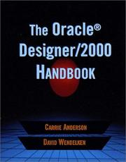 Cover of: The Oracle(R) Designer/2000 Handbook