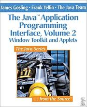 Cover of: Window Toolkit and Applets (The Java(TM) Application Programming Interface, Volume 2)