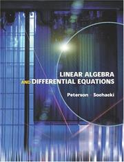 Cover of: Linear Algebra and Differential Equations