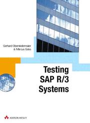 Cover of: SAP R/3 Testing with CATT (SAP Press)