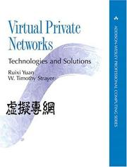 Cover of: Virtual Private Networks