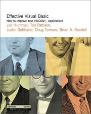 Cover of: Effective Visual Basic