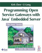 Cover of: Programming Open Service Gateways with Java Embedded Server(TM) Technology