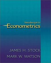 Cover of: Introduction to Econometrics (The Addison-Wesley Series in Economics)