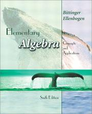 Cover of: Elementary Algebra