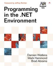 Cover of: Programming in the .NET Environment (Microsoft .NET Development Series)