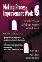 Cover of: Making Process Improvement Work