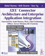 Cover of: J2EE Connector Architecture and Enterprise Application Integration