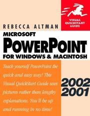 Cover of: PowerPoint 2002/2001 for Windows & Macintosh (Visual QuickStart Guide)