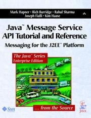 Cover of: Java Message Service API Tutorial and Reference