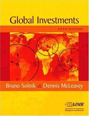 Cover of: International Investments (The Addison-Wesley Series in Finance)