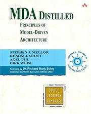 Cover of: MDA Distilled (The Addison-Wesley Object Technology Series)