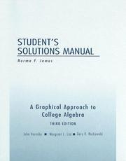 Cover of: Student's Solutions Manual for A Graphical Approach to College Algebra, 3rd edition