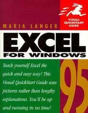 Cover of: Excel for Windows 95
