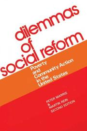 Cover of: Dilemmas of Social Reform