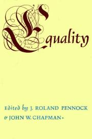Cover of: Equality