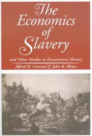 Cover of: The Economics of Slavery