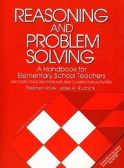 Cover of: Reasoning and Problem Solving