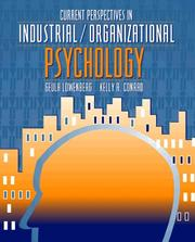 Cover of: Current Perspectives in Industrial/Organizational Psychology
