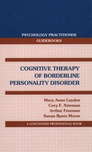 Cover of: Cognitive Therapy of Borderline Personality Disorder (Psychology Practitioner Guidebooks)