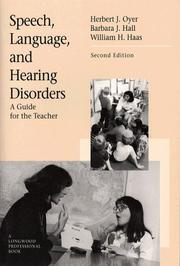 Cover of: Speech, Language, and Hearing Disorders