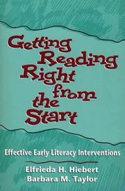Cover of: Getting Reading Right from the Start