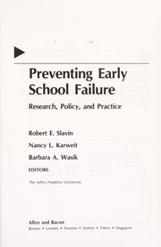Cover of: Preventing Early School Failure: Research, Policy, and Practice