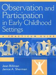 Cover of: Observation and Participation in Early Childhood Settings