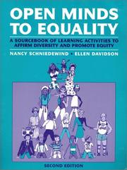 Cover of: Open Minds to Equality