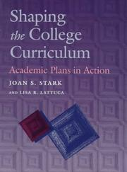 Cover of: Shaping the College Curriculum
