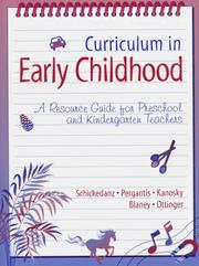 Cover of: Curriculum in Early Childhood
