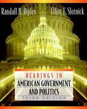 Cover of: Readings in American Government and Politics