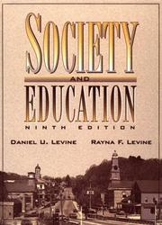 Cover of: Society and Education, Ninth Edition