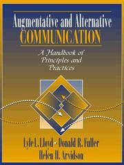 Cover of: Augmentative and Alternative Communication