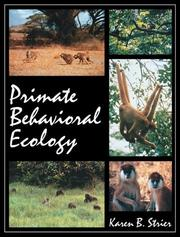 Cover of: Primate Behavioral Ecology
