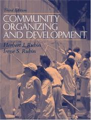 Cover of: Community Organizing and Development (3rd Edition)