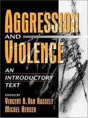 Cover of: Aggression and Violence