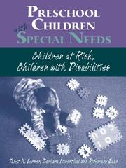 Cover of: Preschoolers with Special Needs