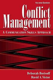 Cover of: Conflict Management