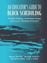 Cover of: Educator's Guide to Block Scheduling, An