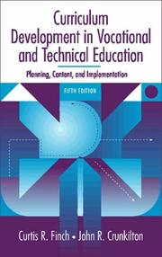 Cover of: Curriculum Development in Vocational and Technical Education