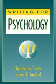 Cover of: Writing for Psychology