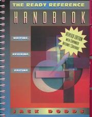 Cover of: Ready Reference Handbook, The