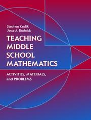 Cover of: Teaching Middle School Mathematics