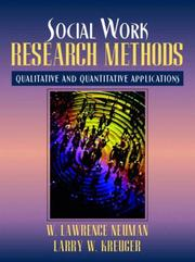 Cover of: Social Work Research Methods