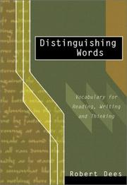 Cover of: Distinguishing Words