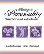 Cover of: Readings in Personality