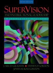 Cover of: SuperVision and Instructional Leadership